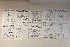アップルジム福岡天神店のジム画像・芸能人のサイン