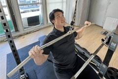 アップルジム東中野店のジム画像・トレーナーのマスク着用を義務化