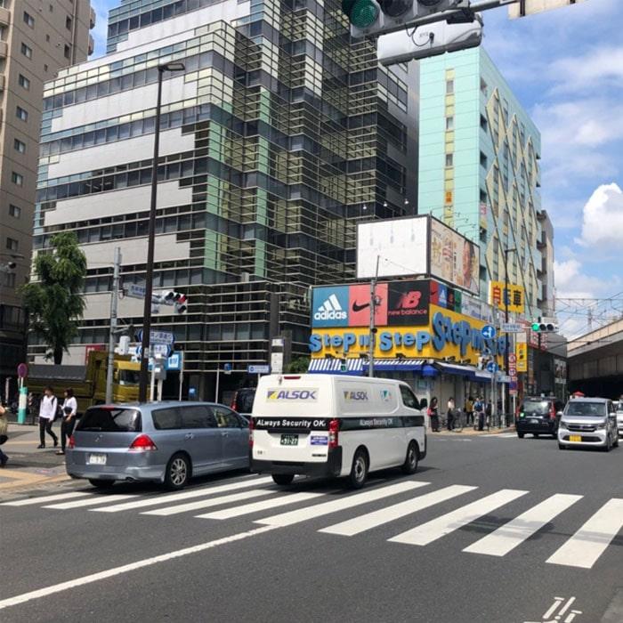 アップルジム吉祥寺店までの道のり2・吉祥寺通りと井の頭通りが交差する大きな十字路