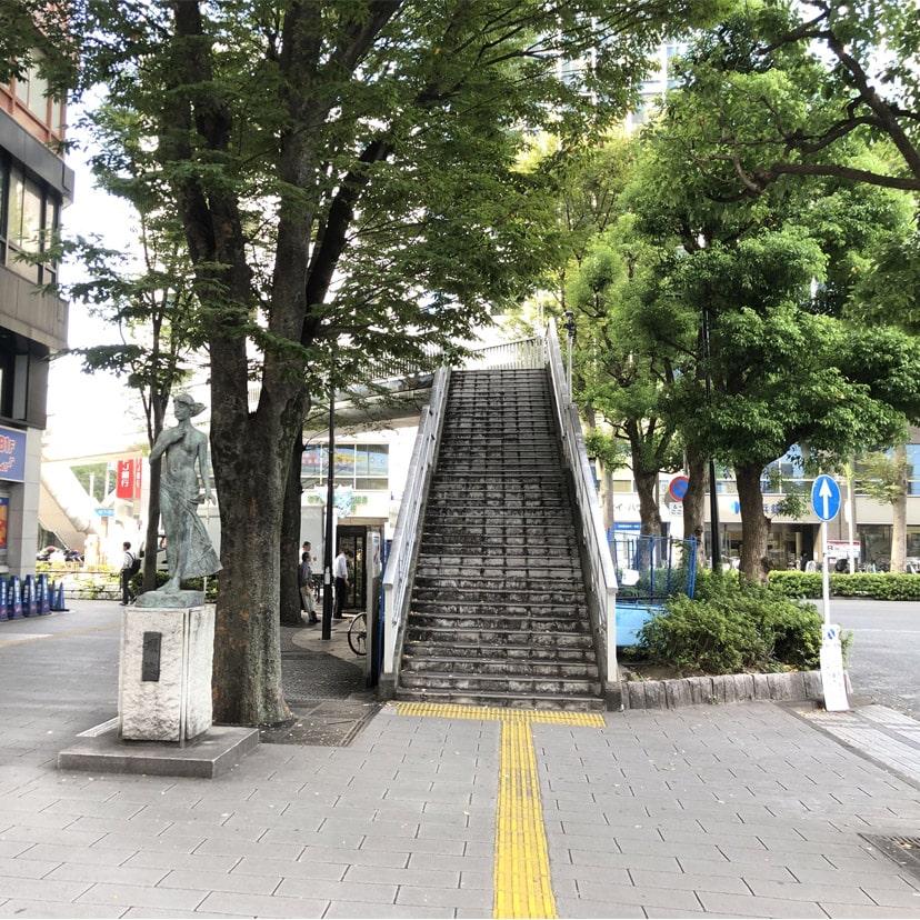 アップルジム恵比寿店までの道のり・駅前の歩道橋