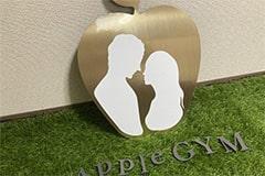 アップルジム練馬店のジム画像・AppleGYMのロゴ