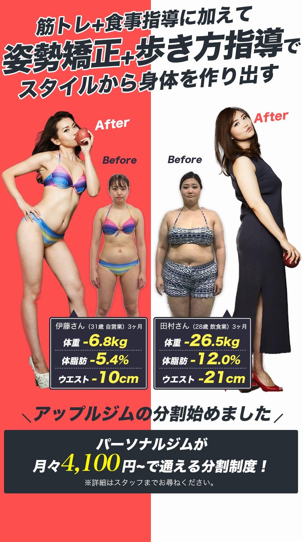 日本初 スタイルをメイクするパーソナルジム 姿勢改善+歩き方指導でプラスアルファの体に